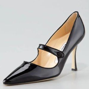 NEW Manolo Blahnik Patent Leather Mary Jane Pumps